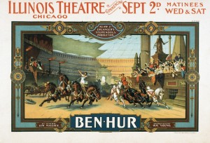 Poster for the Illinois production of Klaw and Erlanger's production of Ben Hur (1901).