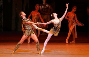 Svetlana Zakharova as Aegina and Alexander Volchkov as Crassus, Spartacus, Bolshoi Ballet at Lincoln Center Festival, New York City, USA (July 25-27, 2014). Photo credit: Andrea Mohin