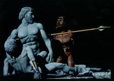 Achilles cradles the body of Patroclus in Achilles (1995)