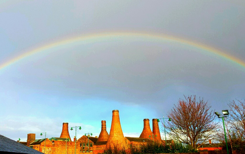 Gladstone Pottery Museum under a 'rainbow of promise'..?