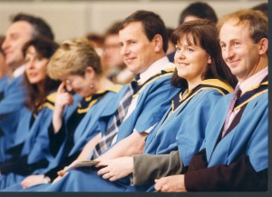 Graduates at an OU degree ceremony