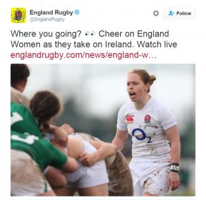 Englandrugby tweet