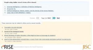 RISE recommendations screenshot