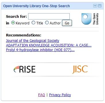 RISE Google Gadget screenshot