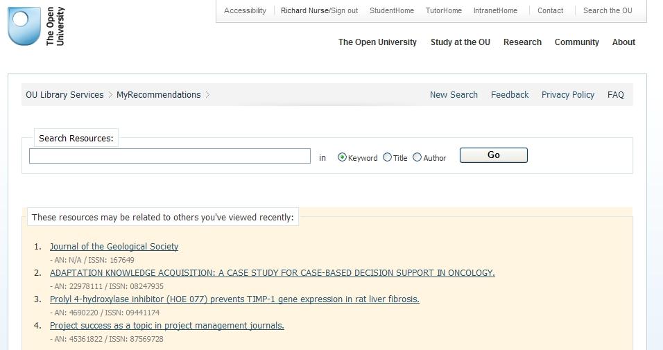 RISE interface screenshot