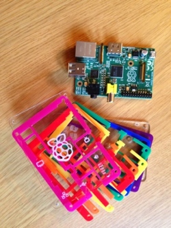 Raspberry PI and cool Maplin protective case (un assembled)