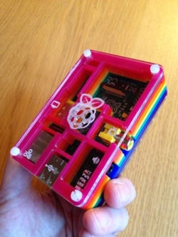 The finished protected RPi