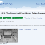 H818 Online Conference in Cloudworks