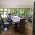 working in the conservatory