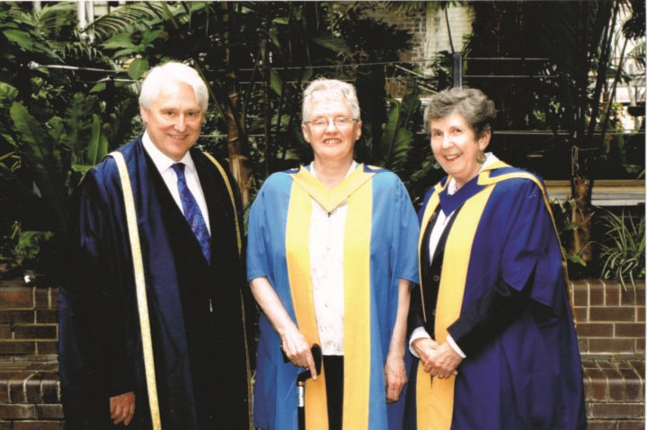 Mabel Cooper receiving her honorary degree in 2010