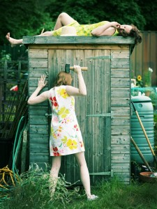 Nicola Jo Cully and Pauline Goldsmith in 'Allotment' at the Edinburgh Fringe Festival