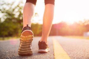 Healthy lifestyle sports woman legs run walk