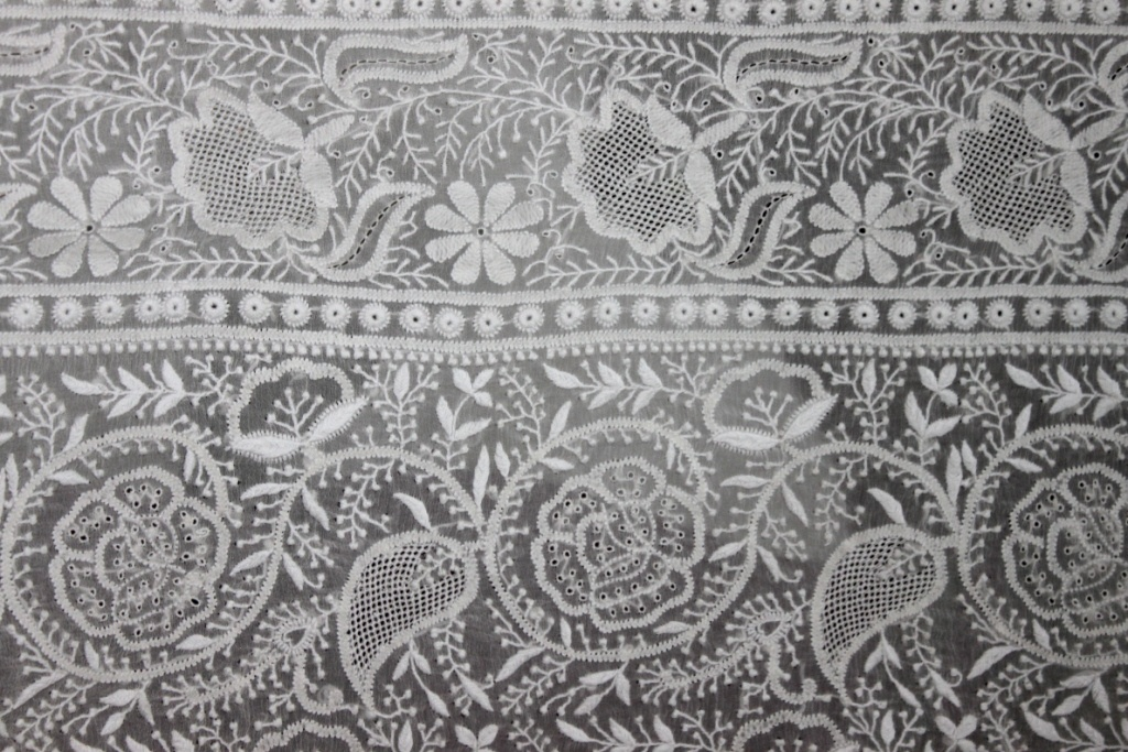 Traditional Chikan Embroidery In Lucknow Uttar Pradesh North India