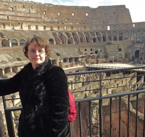 Photo of Julie Ackroyd by the Colosseum