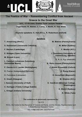 Poetics of War poster