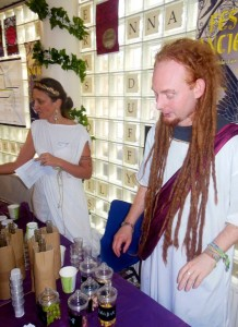 Selling 'Roman herbs' at the East Oxford Classics Centre