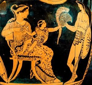 Hector Andromache Astyanax vase