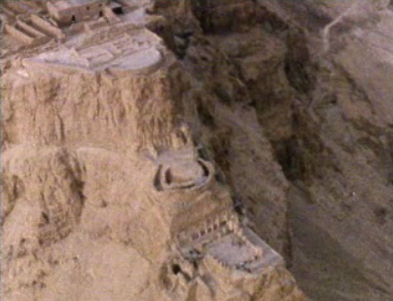 Aerial shots of the fortress of Masada, the site of Jewish resistance in the revolt against Roman rule 66-74CE. Masada had been built by King Herod in the first century CE on a plateau overlooking the Dead Sea and is now a UNESCO World Heritage site. The Roman siege of Masada and the last stand of the Sicarii defenders was described by the Jewish historian Josephus. The course reviewed the written and archaeological evidence relating to his account.
