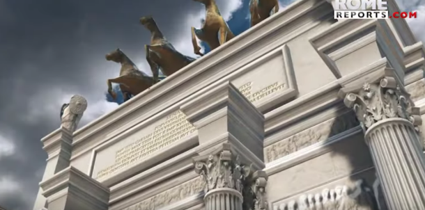 Figure 9: detail of the virtual reconstruction of the Arch of Titus