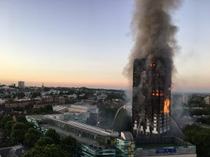 Image of Grenfell Tower burning