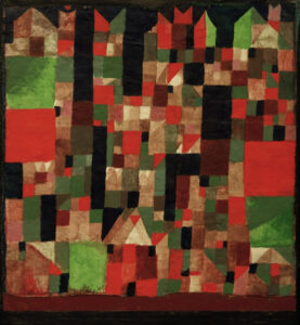 A cubist cityscape by Paul Klee