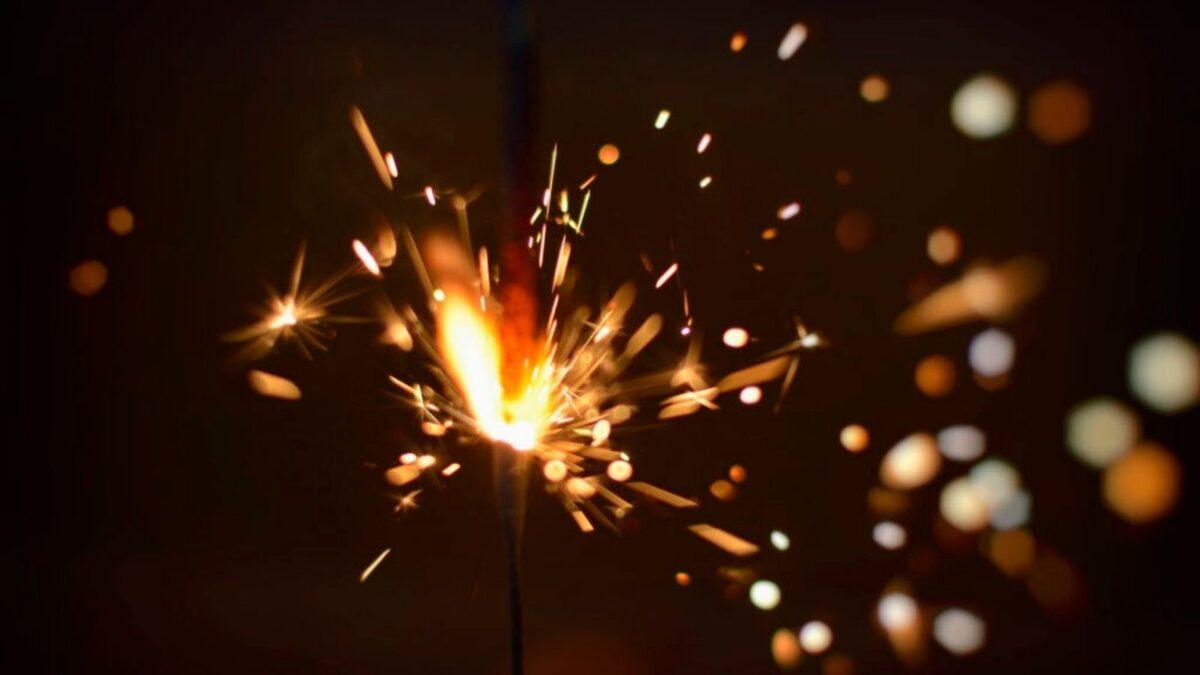 A sparkler in the dark