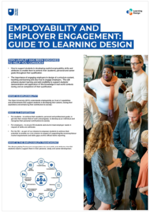 Employer engagement: guide to learning design