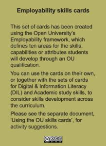 Employability skills cards