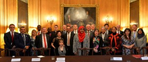 Civil society leaders representing member organisations under the umbrella of Citizens UK meet the Prime Minister, David Cameron, at No.10 Downing Street, in April 2015 to discuss a range of hot issues, living wage and minimum wage, social care and engagement with faith groups on such matters as countering terrorism and violent extremism