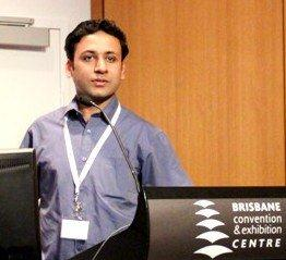 Hassan Sheikh @ M-Libraries 2011 conference in Brisbane, Australia.
