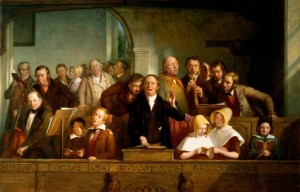 Thomas Webster, Village choir, c. nineteenth century, oil on canvas. Victoria & Albert Museum, London. Photo: © Bridgeman Education.