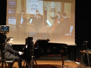 Virtual performance of Dvorak's Piano quintet
