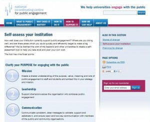 NCCPE web page: Self-assess your institution using the EDGE tool