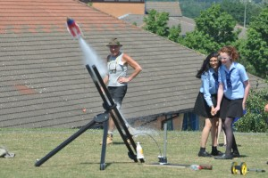 Rocket launch under the watchful eye of Mike Bullivant