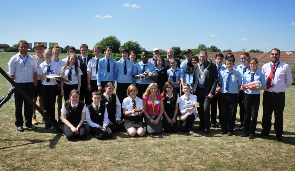 EThe teams, teachers, judges and support staff for the 2013 Water Rocket Competition. Photo: Mark Russell.