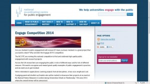 NCCPE 2014 Public Engagement with Research Competition
