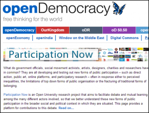 Participation Now in partnership with openDemocracy.net