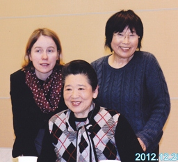 Elizabeth Chappell and two Japanese female interviewees