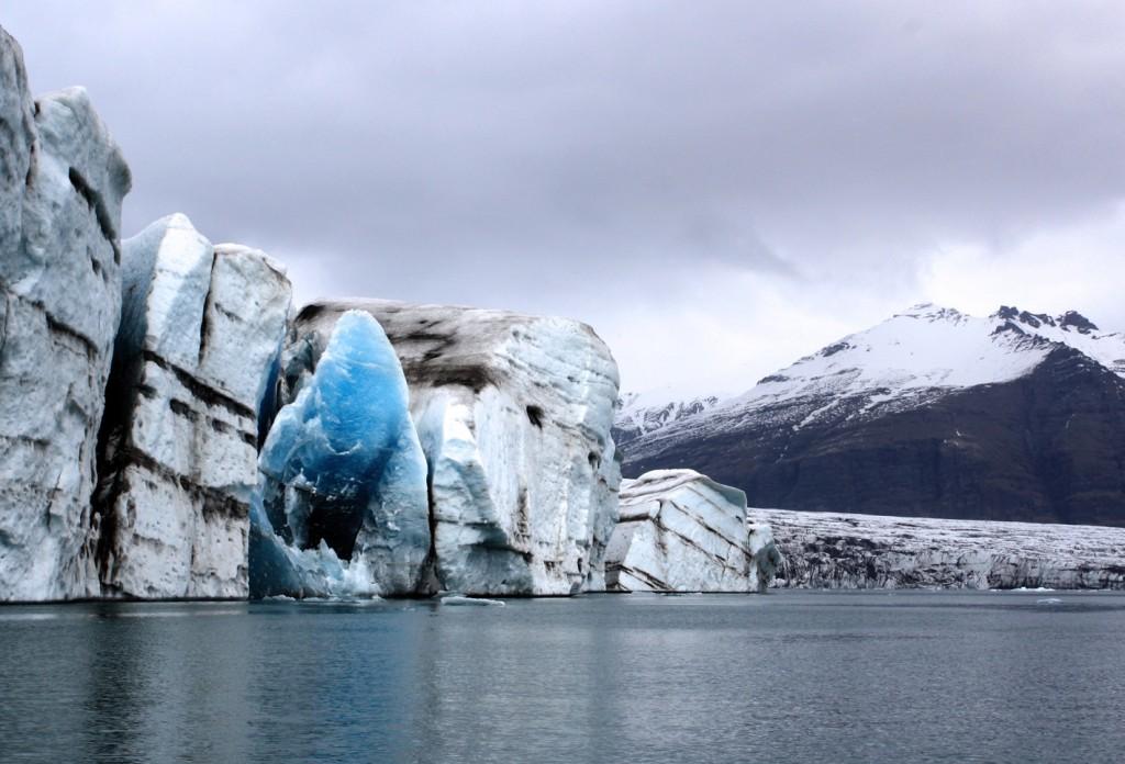 An ice ocean boundary.