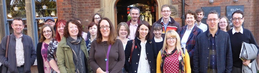 Representatives of seven of the eight RCUK Public Engagement with Research Catalysts, alongside staff from the NCCPE.