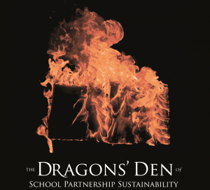 "The Dragons Den ""tear and share"" pamphlet cover"