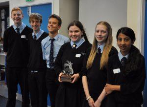 The winning team from Denbigh School.