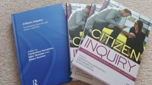 The covers for Citizen inquiry: Synthesizing science and inquiry learning.