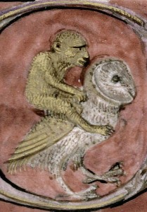 (Image credit: Discarding Images. Monkey riding an owl, Letters of St. Augustine, Anjou 15th century. Marseille, Bibliothèque municipale, ms. 209, fol. 246r.)
