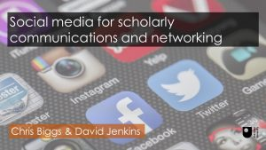 Social media for scholarly communications and networking-title slide
