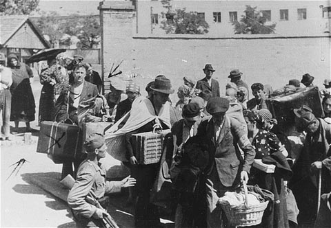Deportation In The Holocaust. Mass deportation of Jews from