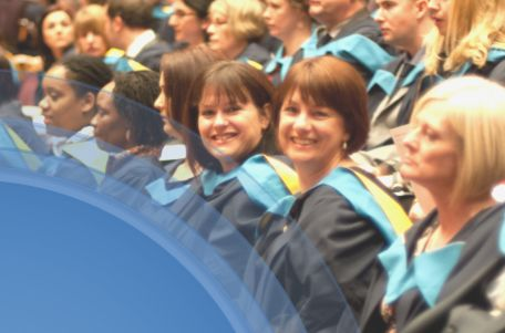 Picture of people at an Open University graduation ceremony