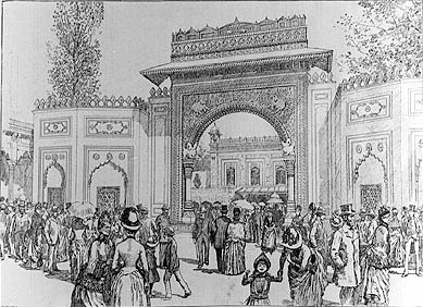 Image of colonial exhibition from Illustrated News