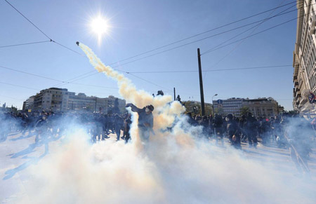 Athens General Strike, 19 October 2011', by Verani Federico