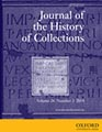 Journal of the History of Collections - cover